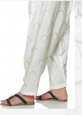 Lakhany Embroidered Cotton Net Unstitched Trousers LSM20SS 2092 - Summer Collection