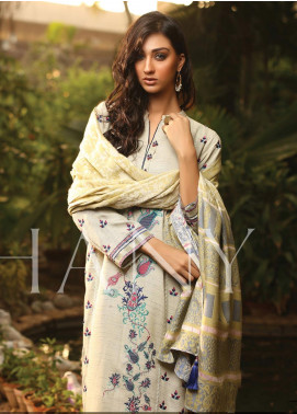 Lakhany Embroidered Woven Unstitched 3 Piece Suit LSM19SH 7001 - Winter Collection