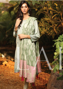 Lakhany Embroidered Woven Unstitched 3 Piece Suit LSM19SH 7002 - Winter Collection