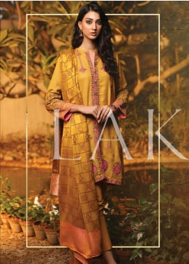 Lakhany Embroidered Woven Unstitched 3 Piece Suit LSM19SH 7003 - Winter Collection