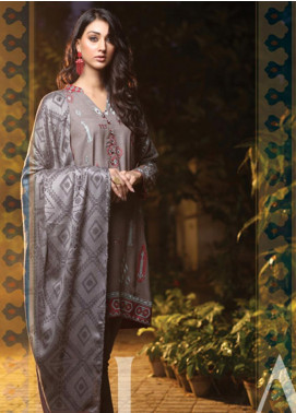 Lakhany Embroidered Woven Unstitched 3 Piece Suit LSM19SH 7004 - Winter Collection