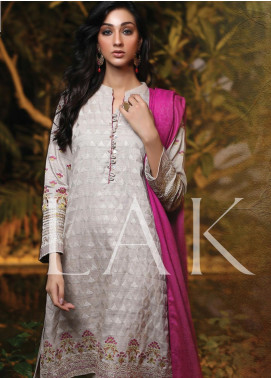 Lakhany Embroidered Woven Unstitched 3 Piece Suit LSM19SH 7005 - Winter Collection