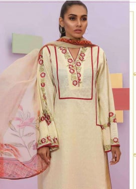 Lakhany Embroidered Lawn Unstitched 3 Piece Suit LSM19SBL 306A - Spring / Summer Collection