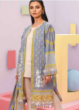 Lakhany Embroidered Lawn Unstitched 3 Piece Suit LSM19SBL 308B - Spring / Summer Collection