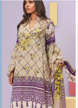 Lakhany Embroidered Lawn Unstitched 3 Piece Suit LSM19SBL 310B - Spring / Summer Collection