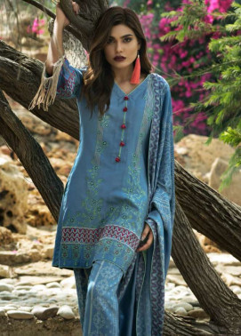Lakhani Embroidered Cottle Linen Unstitched 3 Piece Suit LSM17W3 1000A