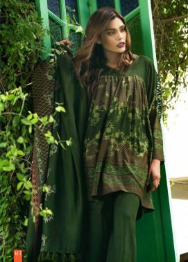 Lakhani Embroidered Cottel Linen Unstitched 3 Piece Suit LSM17W3 111A