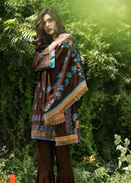 Lakhani Embroidered Cottle Linen Unstitched 3 Piece Suit LSM17W3 222B