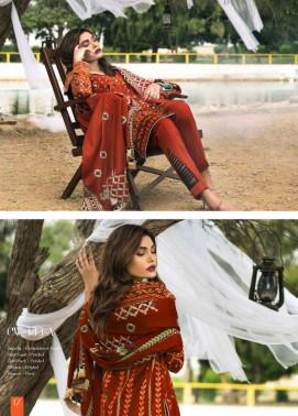 Lakhani Embroidered Cottel Linen Unstitched 3 Piece Suit LSM17W3 333A