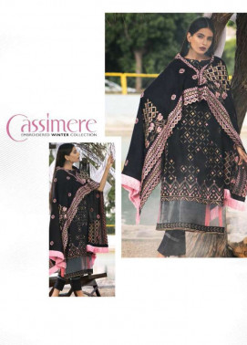 Lakhani Embroidered Cottel Linen Unstitched 3 Piece Suit LSM17W3 333B