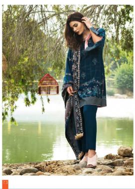 Lakhani Embroidered Cottle Linen Unstitched 3 Piece Suit LSM17W3 444A