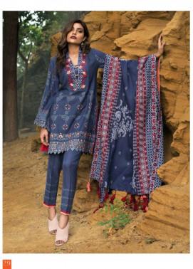 Lakhani Embroidered Cottle Linen Unstitched 3 Piece Suit LSM17W3 555A