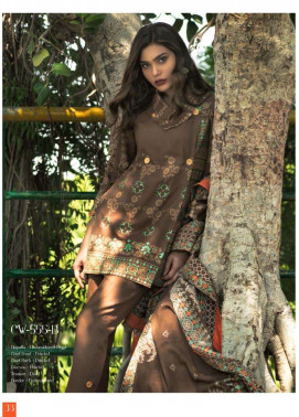 Lakhani Embroidered Cottel Linen Unstitched 3 Piece Suit LSM17W3 555B