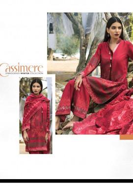 Lakhani Embroidered Cottle Linen Unstitched 3 Piece Suit LSM17W3 666A