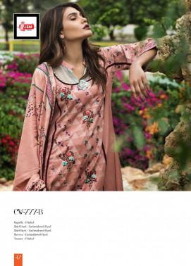 Lakhani Embroidered Cottel Linen Unstitched 3 Piece Suit LSM17W3 777B