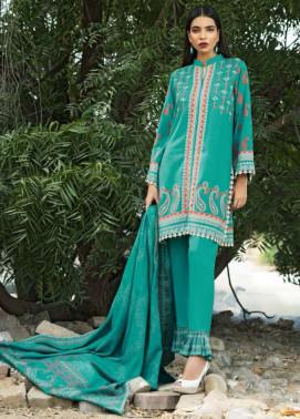 Lakhani Embroidered Cottel Linen Unstitched 3 Piece Suit LSM17W3 888B