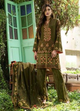 Lakhani Embroidered Cottel Linen Unstitched 3 Piece Suit LSM17W3 999A