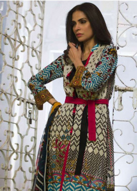 Lakhani Embroidered Lawn Unstitched 3 Piece Suit LSM18L EC-3B - Spring Collection
