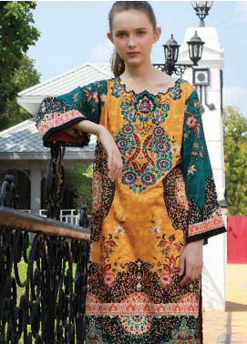 Lakhany Embroidered Cotton Unstitched Kurties LSM18WK 05 - Winter Collection
