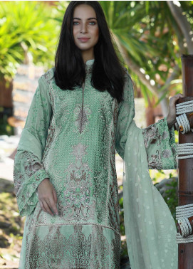 Lakhany Embroidered Broschia Net Unstitched 3 Piece Suit LSMG18L 9992 - Mid Summer Collection