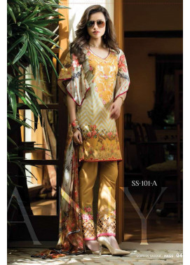 Sophia Sahar by LSM Embroidered Lawn Unstitched 3 Piece Suit LSS17E 101A