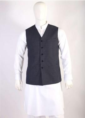 Lawrencepur Wool Blend Plain Texture Waistcoats for Men - Dark Grey LW18W 12
