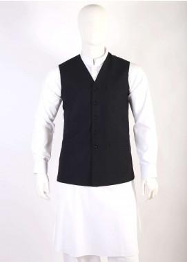 Lawrencepur Wool Blend Plain Texture Men Waistcoats - Dark Brown LW18W 13