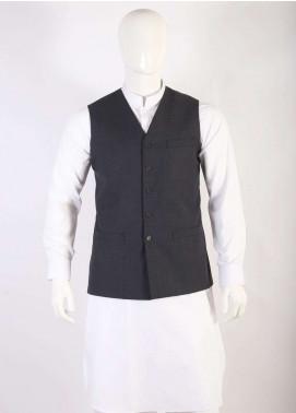 Lawrencepur Wool Blend Plain Texture Waistcoats for Men - Dark Green LW18W 14
