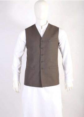 Lawrencepur Wool Blend Plain Texture Men Waistcoats - Dark Purple LW18W 15