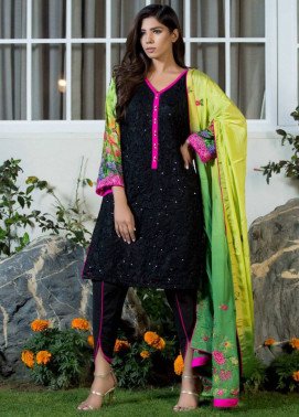 ZS Textile Embroidered Silk Unstitched 3 Piece Suit MA17W 03
