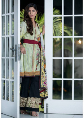 ZS Textile Embroidered Silk Unstitched 3 Piece Suit MA17W 08
