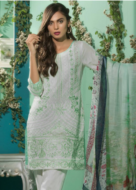 Maira Ahsan Embroidered Lawn Unstitched 3 Piece Suit MA18-L3 03 - Eid Collection