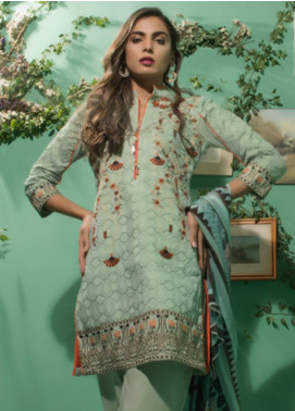 Maira Ahsan Embroidered Lawn Unstitched 3 Piece Suit MA18-L3 1B - Eid Collection