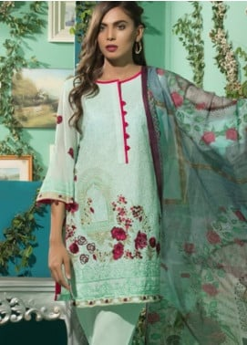 Maira Ahsan Embroidered Lawn Unstitched 3 Piece Suit MA18-L3 4A - Eid Collection