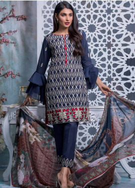 Maira Ahsan Embroidered Lawn Unstitched 3 Piece Suit MA18-L4 12 - Mid Summer Collection