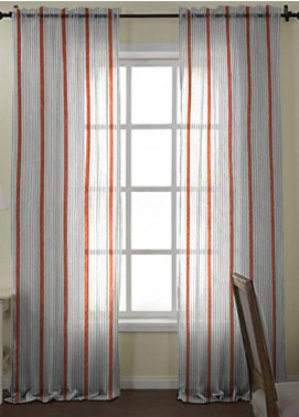 Maguari Textile Stripe Cotton Net  Curtain Mt976 -