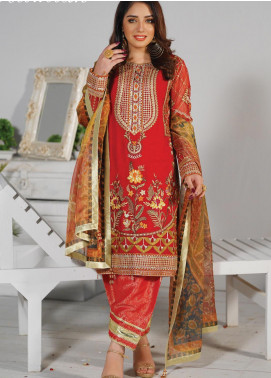 Mah-e-Meer by Anamta Embroidered Chiffon Unstitched 3 Piece Suit ANT20MM S-3 MUMTAZ - Luxury Collection