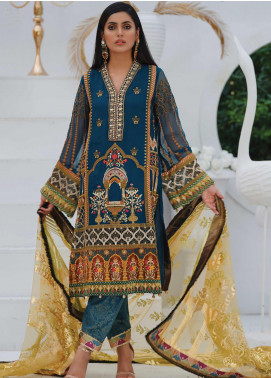 Mah-e-Meer by Anamta Embroidered Chiffon Unstitched 3 Piece Suit ANT20MM S-5 SASSI - Luxury Collection