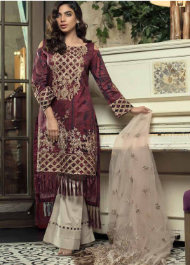 Mahiymaan Embroidered Lawn Unstitched 3 Piece Suit MAH18E 03 - Eid Collection