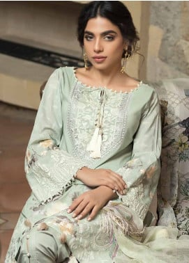 Mahiymaan Embroidered Lawn Unstitched 3 Piece Suit MAH18E 04 - Eid Collection