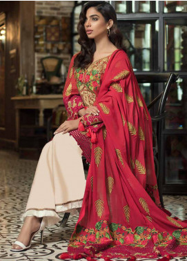 Mahiymaan Embroidered Lawn Unstitched 3 Piece Suit MAH18E 05 - Eid Collection