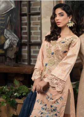 Mahiymaan Embroidered Lawn Unstitched 3 Piece Suit MAH18E 07 - Eid Collection