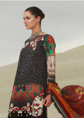 Mahiymaan By Al Zohaib Embroidered Lawn Unstitched 3 Piece Suit MAH18L 12 - Spring / Summer Collection