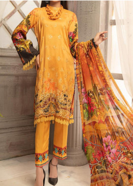 Mahee's by Riaz Arts Embroidered Viscose Unstitched 3 Piece Suit RA20MV 05 - Winter Collection