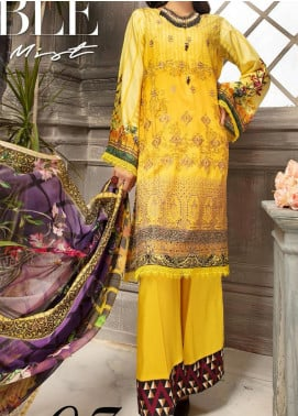 Mahee's by Riaz Arts Embroidered Viscose Unstitched 3 Piece Suit RA20MV 07 - Winter Collection