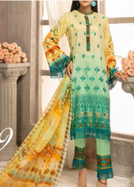 Mahee's by Riaz Arts Embroidered Viscose Unstitched 3 Piece Suit RA20MV 09 - Winter Collection