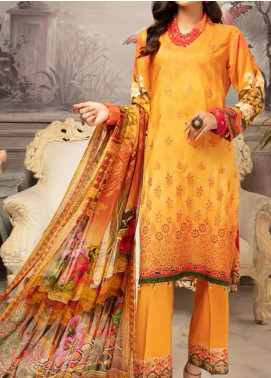 Mahee's by Riaz Arts Embroidered Viscose Unstitched 3 Piece Suit RA20MV 10 - Winter Collection
