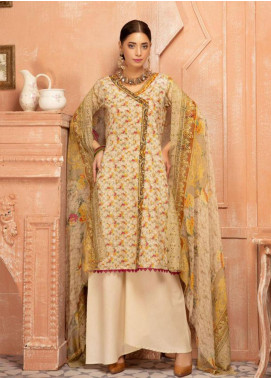 Mahee's by Riaz Arts Chikankari Lawn Unstitched 3 Piece Suit MRA20L  8 - Summer Collection