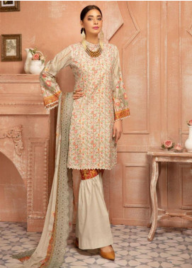 Mahee's by Riaz Arts Chikankari Lawn Unstitched 3 Piece Suit MRA20L  9 - Summer Collection