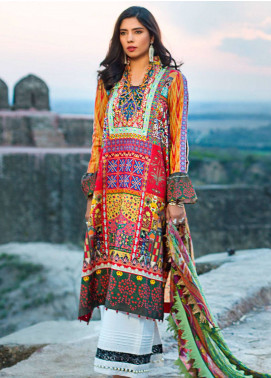 Maheen Karim by ZS Textile Embroidered Lawn Unstitched 3 Piece Suit MK19L 08 HEIRLOOM - Spring / Summer Collection